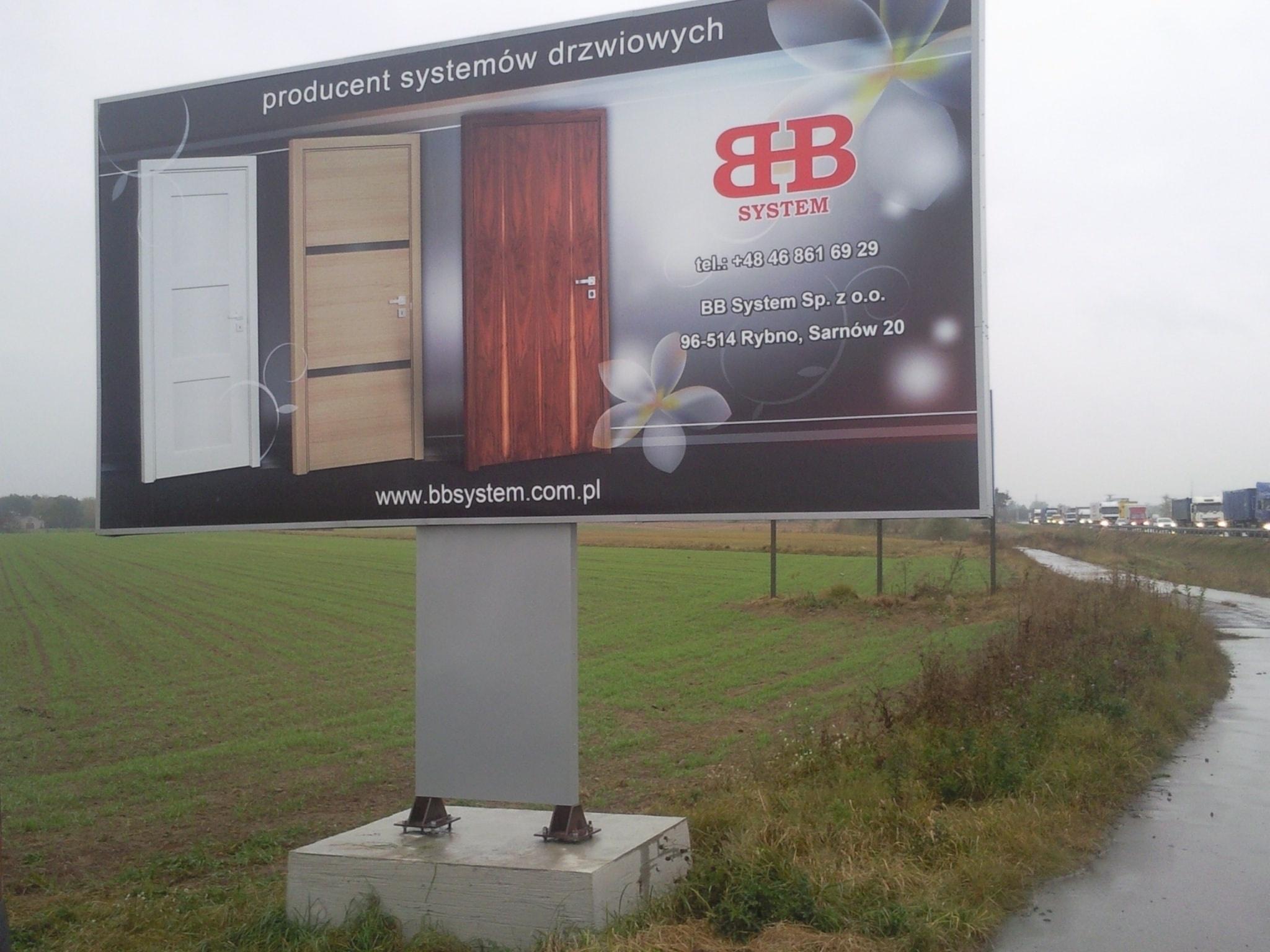 Niewiarygodnie Billboardy Warszawa Billboard Tablice reklamowe YH25